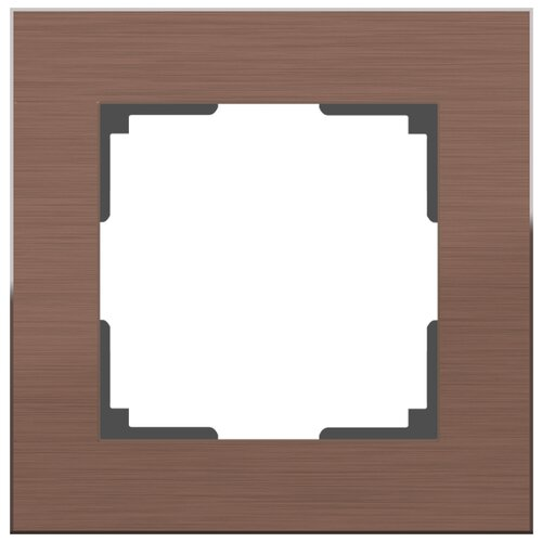 Рамка 1п Werkel WL11-Frame-01, коричневый рамка werkel aluminium алюминий коричневый wl11 frame 05