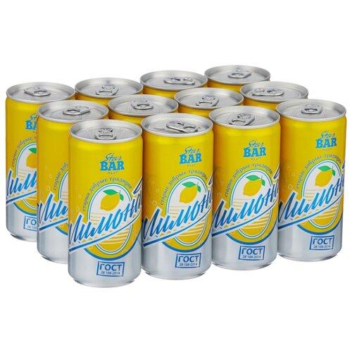 Газированный напиток Star Bar Лимонад, 0.2 л, 12 шт. мингаз лимонад напиток 0 5 л