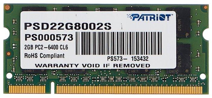 Модуль памяти Patriot Memory PSD22G8002S