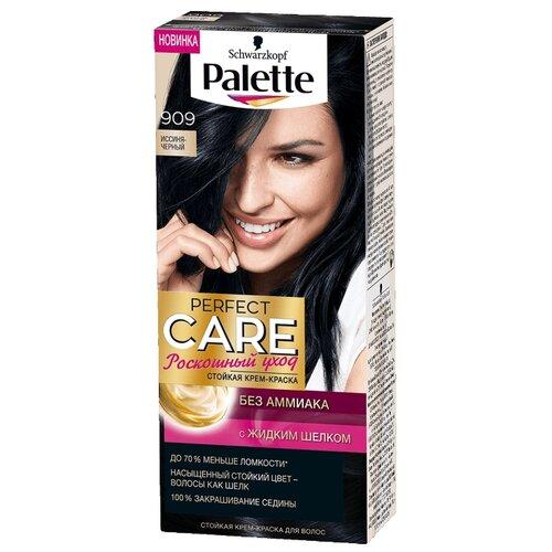 Palette Роскошный уход Стойкая крем-краска для волос, 909 иссиня-черный крем краска palette