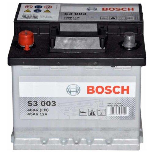 Автомобильный аккумулятор Bosch S3 003 (0 092 S30 030) bosch акб bosch s30 060 s3 56ач п п 556 401 048