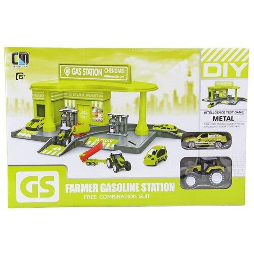 Купить Chengmei toys Заправочная станция Г93577 зеленый/серый, Детские парковки и гаражи