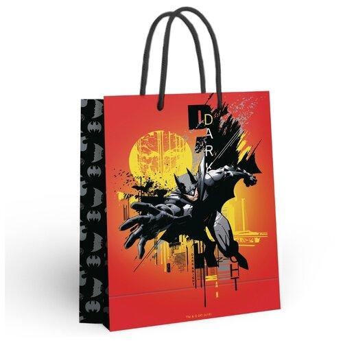 Batman. Пакет подарочный большой (оранжевый), 250*350*100 мм недорого