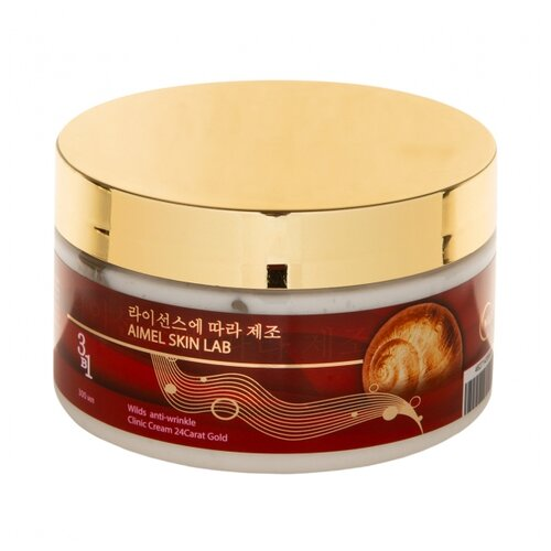 Крем Wilds Anti-wrinkle Clinic Cream 24Carat Gold 3в1 с муцином улитки и пептидным комплексом для лица,шеи и зоны декольте 300 мл