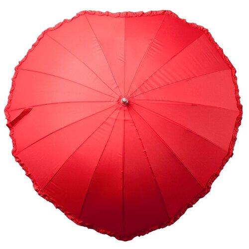 Зонт-трость molti Сердце красный