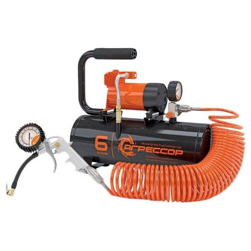 цена на Автомобильный компрессор Агрессор AGR-6LT черный/оранжевый