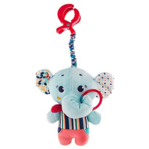 Купить Подвесная игрушка Happy Snail Слоник Джамбо (19HSС14EL) голубой/синий/красный, Подвески