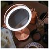 Зеркало косметическое настольное PLANTA PLM-1725 Copper с подсветкой