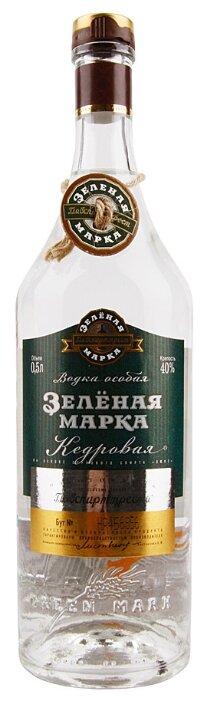 Водка Зеленая марка Кедровая особая, 0.5 л
