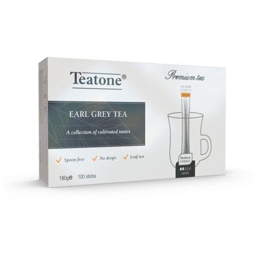 Чай черный Teatone с ароматом бергамота в стиках, 100 шт. earl grey чёрный чай с ароматом бергамота teatone в стиках для разовой заварки 100шт 1 8г