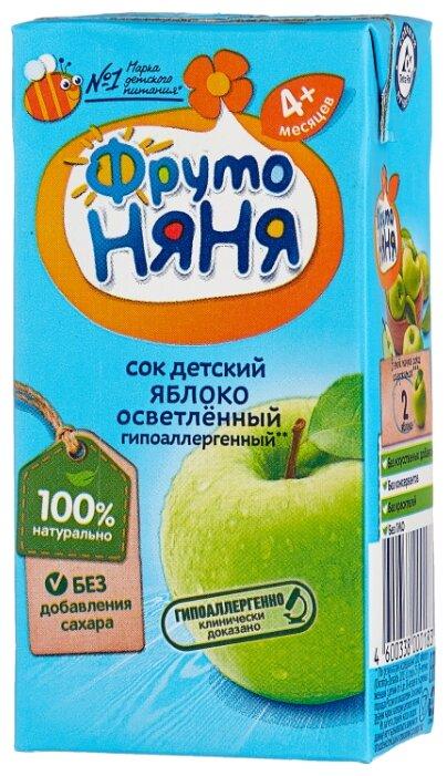 Сок ФрутоНяня из яблок осветленный, c 4 месяцев
