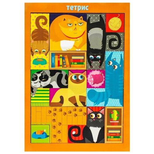 Купить Головоломка Woodland Тетрис большой Коты (065102), Головоломки