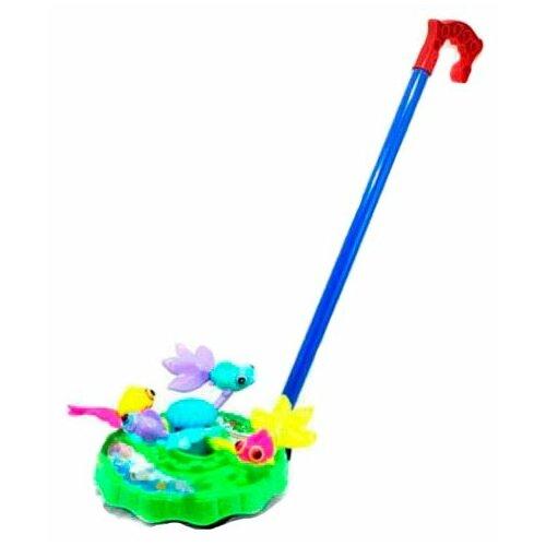 Купить Каталка-игрушка Shantou Gepai Карусель Рыбки (42089) зеленый/синий/красный, Каталки и качалки