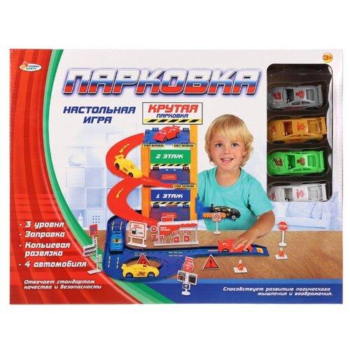 Купить Играем вместе Парковка 1505I165-R красный/оранжевый/синий/белый, Детские парковки и гаражи