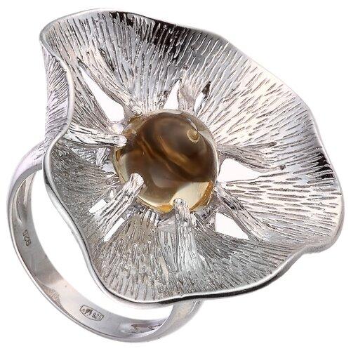 цена на JV Кольцо с кварцем из серебра 30-003-010-033-LQZ-WG, размер 16.5