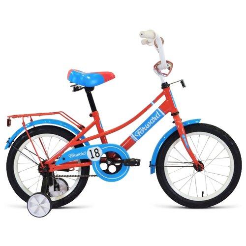 Детский велосипед FORWARD Azure 18 (2020) коралловый/голубой (требует финальной сборки)