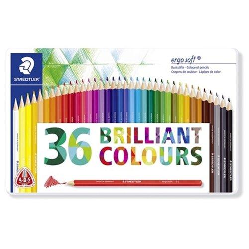 Купить Staedtler Карандаши акварельные Еrgo soft 36 цветов (157M36), Цветные карандаши