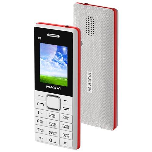 Фото - Телефон MAXVI C9 белый-красный телефон maxvi x650 красный