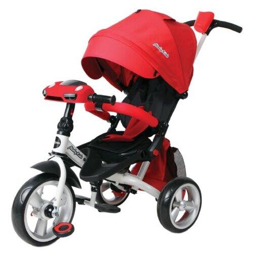 Трехколесный велосипед Moby Kids Leader 360° 12x10 EVA Car, красный