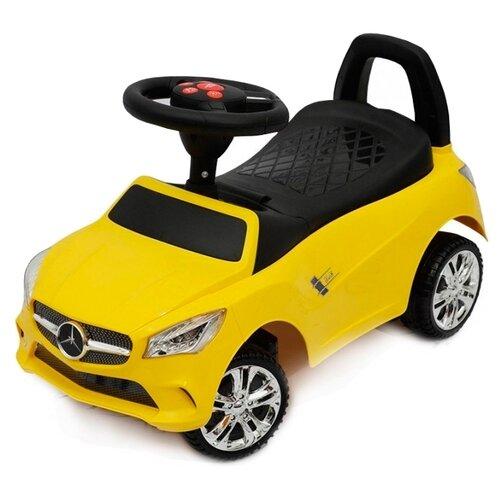 Купить Каталка-толокар RiverToys Mercedes JY-Z01C со звуковыми эффектами желтый, Каталки и качалки