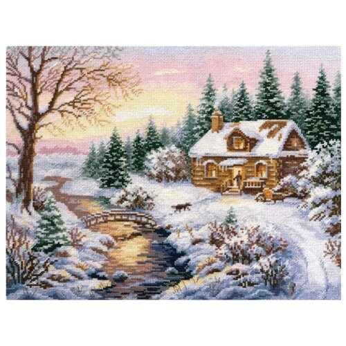 Купить Алиса Набор для вышивания крестиком Зима. К вечеру 38 х 30 см (3-15), Наборы для вышивания