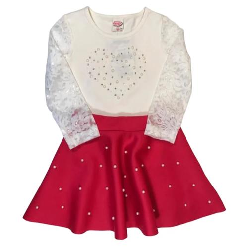 Комплект одежды TEO & NIK размер 92, белый/красныйКомплекты<br>