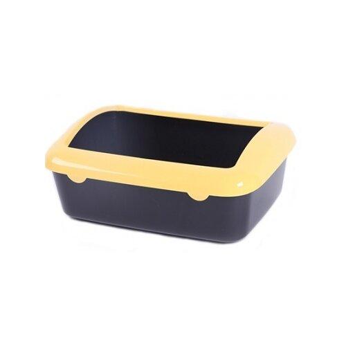 Туалет-лоток для кошек Шурум-бурум 1КУТ00013 40х29х14 см черный/желтый