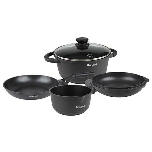 Набор посуды Rondell The One RDA-563 6 пр. серый набор посуды rondell the one rda 563
