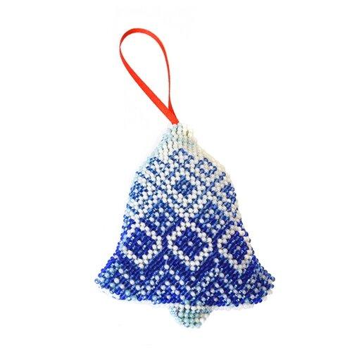 созвездие набор для вышивания крестом мышкитёр 23 5 х 19 5 см к 177 Созвездие Набор для вышивания бисером новогодняя игрушка Синий колокольчик 9,5 х 8 см (БИ-107)
