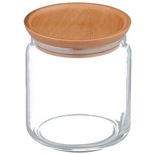 Luminarc Банка с деревянной крышкой Box Mania 0,75 л прозрачный/бежевый