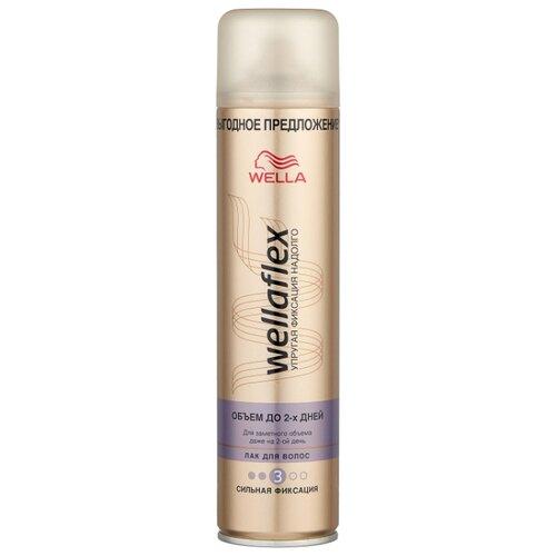 Wella Лак для волос Wellaflex Объем до 2 дней сильной фиксации, сильная фиксация, 400 мл wella лак для волос сильной фиксации stay styled 300 мл