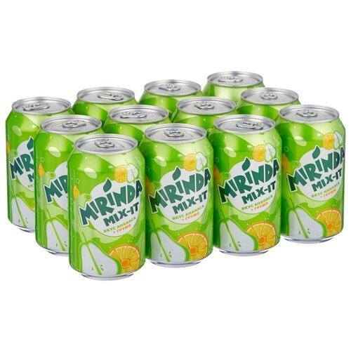 Газированный напиток Mirinda Mix-It ананас-груша, 0.33 л, 12 шт.