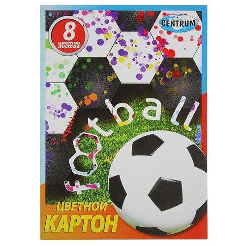 Цветной картон Футбол CENTRUM, 29.3х20.5 см, 8 л., 8 цв. action картон action бабочки цветной а4 8 цв 8 л
