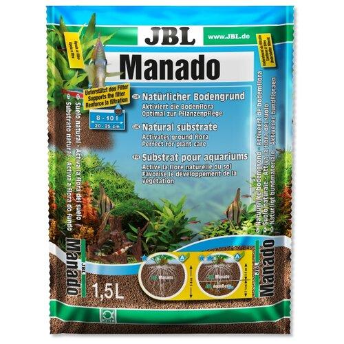 Грунт JBL Manado 1,5 л, 1.02 кг коричневый