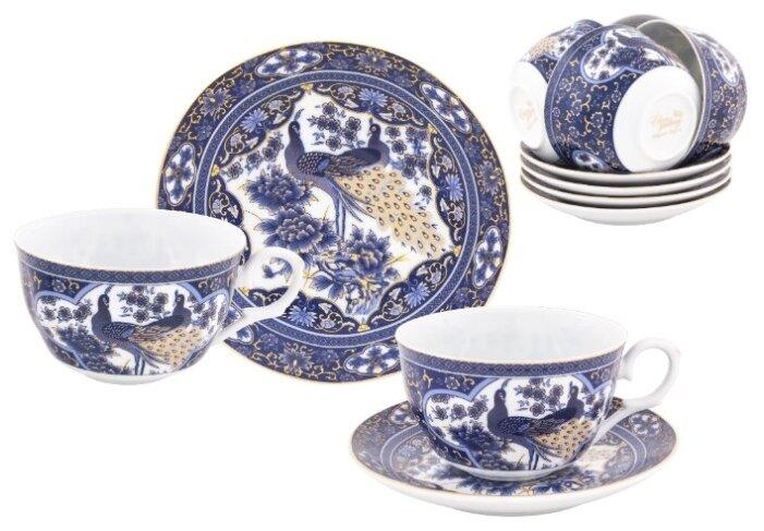 Чайный сервиз Elan gallery Павлин синий 730744