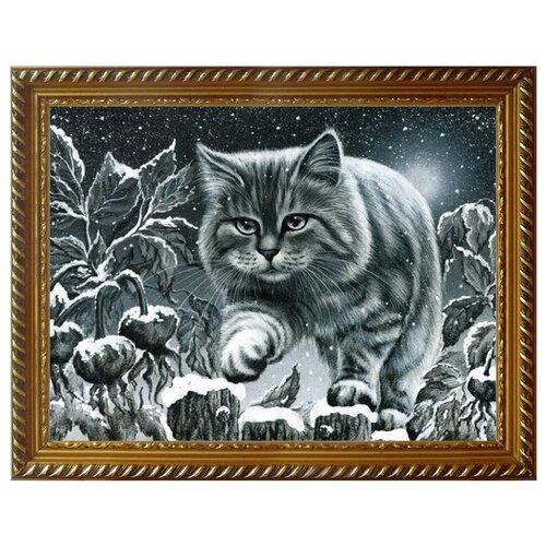 Купить Алмазная живопись Набор алмазной вышивки Кот на заборе (АЖ-1415) 40x30 см, Алмазная вышивка