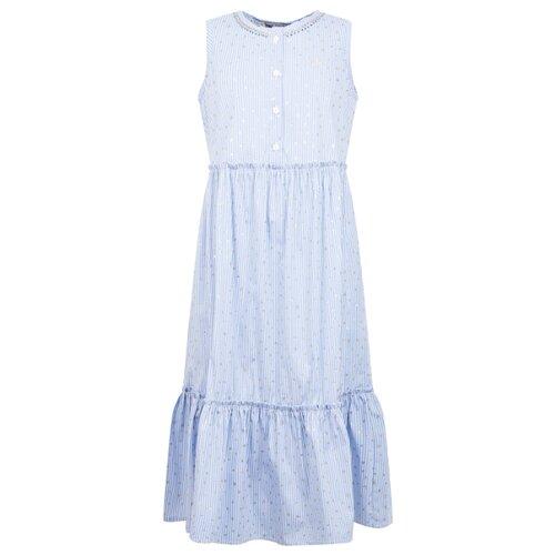 Платье Ermanno Scervino размер 174, белый/голубой/золотой/полоска