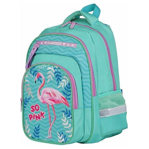 Купить Berlingo рюкзак Ergo Flamingo, зеленый/розовый, Рюкзаки, ранцы