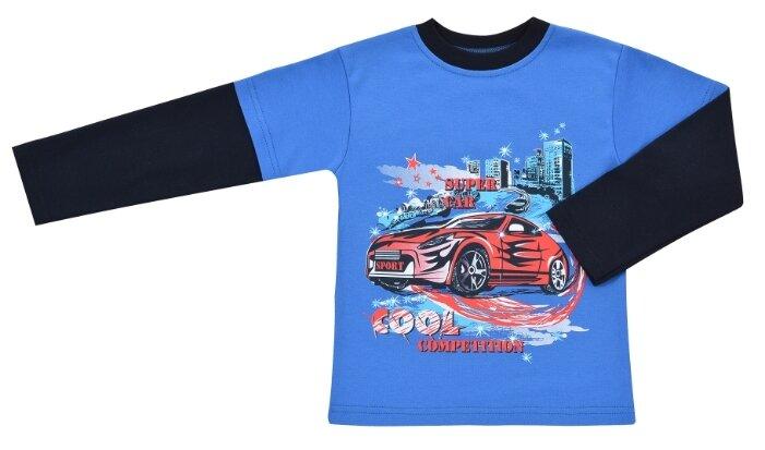 Лонгслив ДО (Детская одежда) размер 122, синий/черный