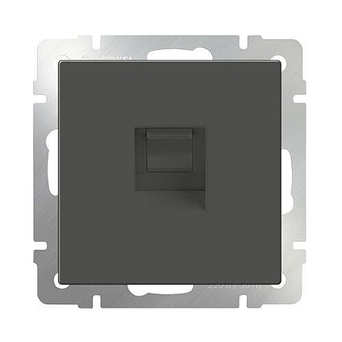 Фото - Розетка для интернета / телефона Werkel WL07-RJ-11, серо-коричневый розетка для интернета телефона werkel wl01 rj 11 белый