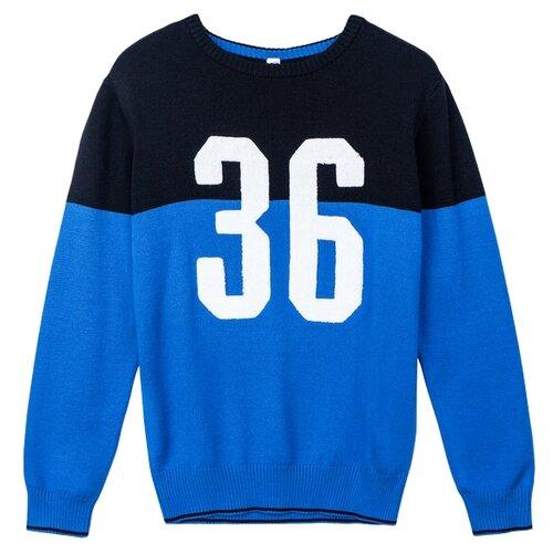 Купить Джемпер playToday размер 116, черный, синий, белый, Свитеры и кардиганы