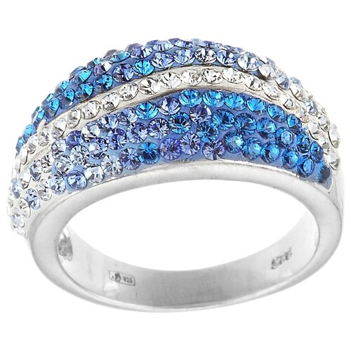 цена на JV Кольцо с фианитами из серебра RS0194-BLZI-001-WG, размер 18