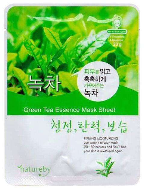 Natureby Green Tea Essence Mask Sheet тканевая маска с экстрактом зеленого чая