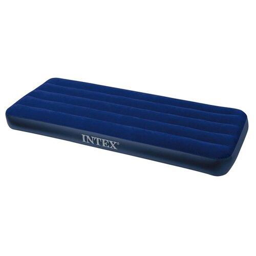 Фото - Надувной матрас Intex Classic Downy Airbed (64756) синий надувной матрас intex mid rice airbed 64116 светло темно серый