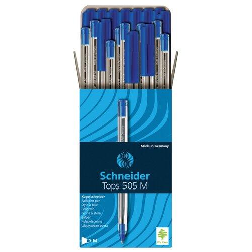 Купить Schneider Набор шариковых ручек Tops 505 M, 1 мм, 50 шт, 150603, синий цвет чернил, Ручки