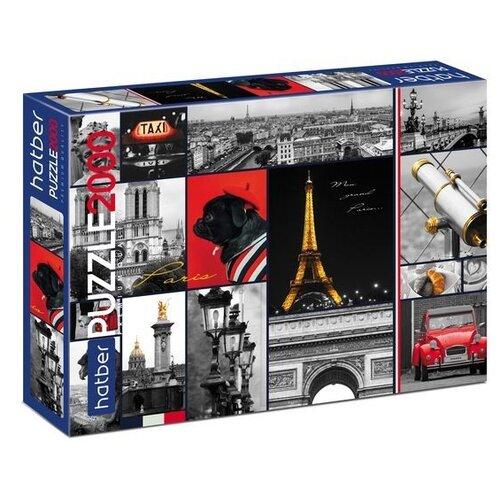Купить Пазл Hatber Premium I love Paris (2000ПЗ1_22016), 2000 дет., Пазлы