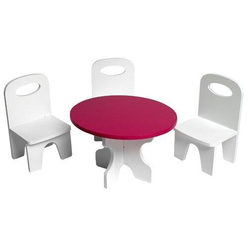 Купить PAREMO Набор мебели для кукол Классика (PFD120-39/PFD120-37/PFD120-41/PFD120-38/PFD120-40) белый/ягодный, Мебель для кукол