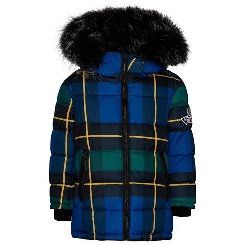 Купить Пуховик Gulliver 21904BMC4503 размер 122, синий, Куртки и пуховики