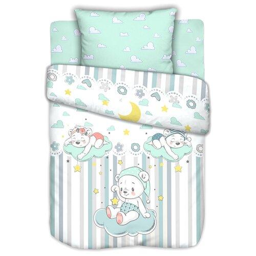 Текстильная лавка комплект в кроватку Сонные мишки (3 предмета) голубой бортики в кроватку leader kids мишки с коляской