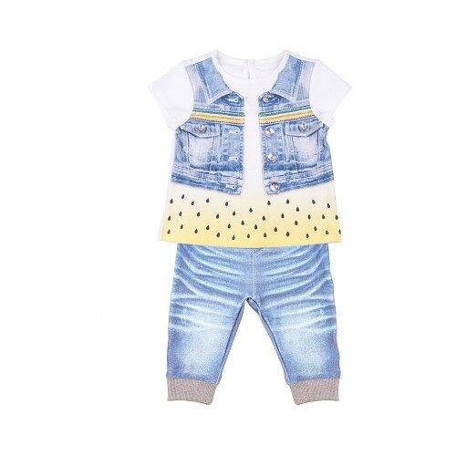 Купить Комплект одежды Папитто размер 74, белый/желтый/голубой, Комплекты